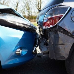 Auto Accident Lawyer St Petersburg - 2 cars in an auto collision.